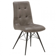 Hix Upholstered Dining Chair, Grey and Black