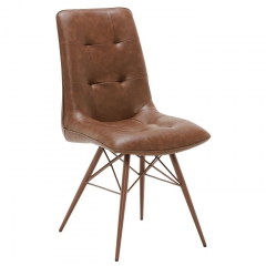 Hix Upholstered Dining Chair, Vintage Brown