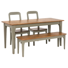 Maison Dining Table, Bench and 2 Dining Chairs