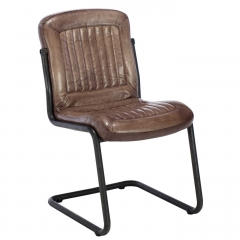Irving Leather Dining Chair, Brown