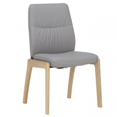 Stressless Mint Low Back Dining Chair With D100 Legs, Batick Wild Dove