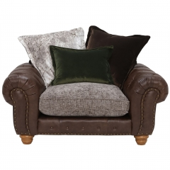 Melville Pillow Back Snuggle Chair, Stock