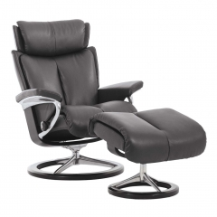 Stressless Magic Signature Chair & Stool, Choice of Leather