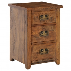 New Frontier Mango Wood 3 Drawer Bedside