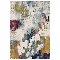 Ceres Abstract Rug, Mustard