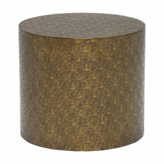 Tolfa Drum Side Table, Brass