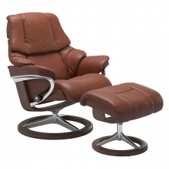 Stressless Reno Signature Chair & Stool, Noblesse