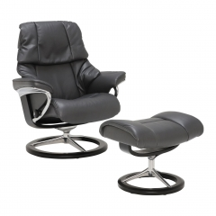 Stressless Reno Signature Chair & Stool, Choice of Leather