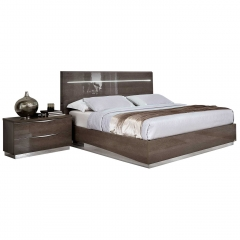 Lutyen Bed Frame, Grey and Taupe