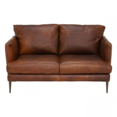 New Acacia Leather Loveseat