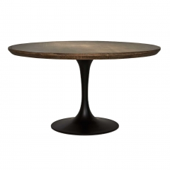 Talula Dining Table, Antique Brass