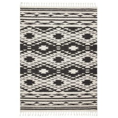 Tangier Rug, Black and White
