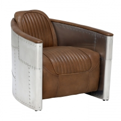 Timothy Oulton Aviator Tomcat Armchair, Destroyed Raw