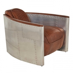 Timothy Oulton Aviator Tomcat Armchair, Vintage Cigar and Spitfire