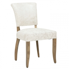 Timothy Oulton Mimi Leather Dining Chair, Vintage Bianco