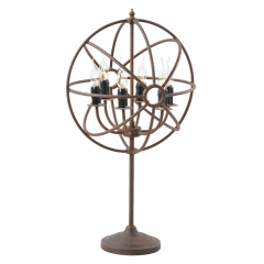Timothy Oulton Gyro Table Lamp, Antique Rust