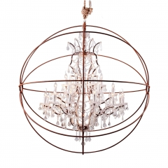 Timothy Oulton Gyro Large Crystal Chandelier, Antique Rust