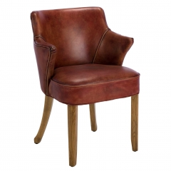 Timothy Oulton Lannister Dining Chair, Vagabond Red Leather