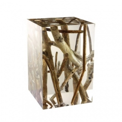 Timothy Oulton Spur Small Occasional Table in Driftwood