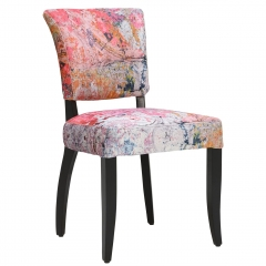 Timothy Oulton Mimi Velvet Faded and Degraded Dining Chair, Peeling Ceiling