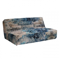 Timothy Oulton Shabby Sectional 3 Seater Sofa, Faded and Degraded Melting Paisley