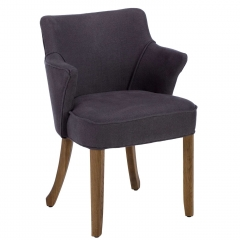 Timothy Oulton Lannister Linen Dining Chair, Graphite