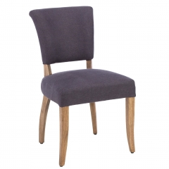 Timothy Oulton Mimi Linen Dining Chair, Graphite