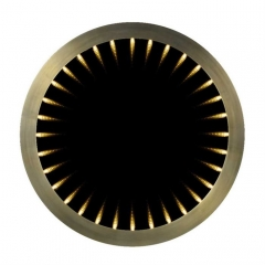 Timothy Oulton Inception Large Round Mirror, Flat Brass