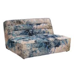 Timothy Oulton Shabby Sectional 2 Seater Sofa, Faded and Degraded Melting Paisley