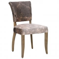 Timothy Oulton Mimi Velvet Faded and Degraded Dining Chair, Peat Smudge