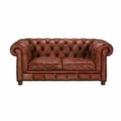 Timothy Oulton Westminster Feather 2 Seater Sofa, Vegabond Red Leather