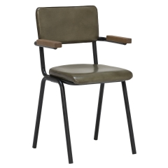 Twyford Chair With Arms, Leather