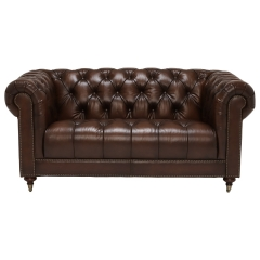 Ullswater 2 Seater Chesterfield Sofa, Vintage Tabacco