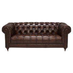 Ullswater 3 Seater Chesterfield Sofa, Vintage Tabac