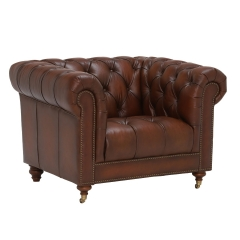 Ullswater Leather Club Chair, Vintage Tabac