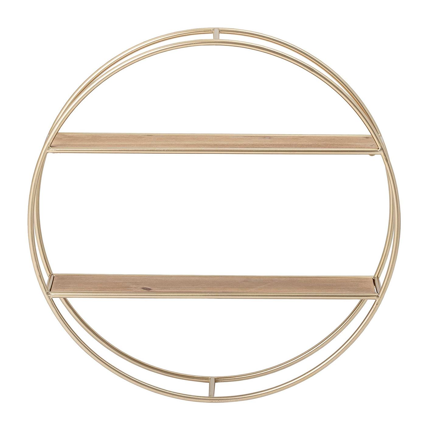 Round Double Wall Shelf, Gold