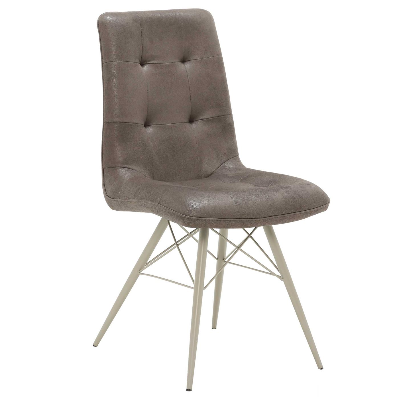 Hix Upholstered Dining Chair, Grey