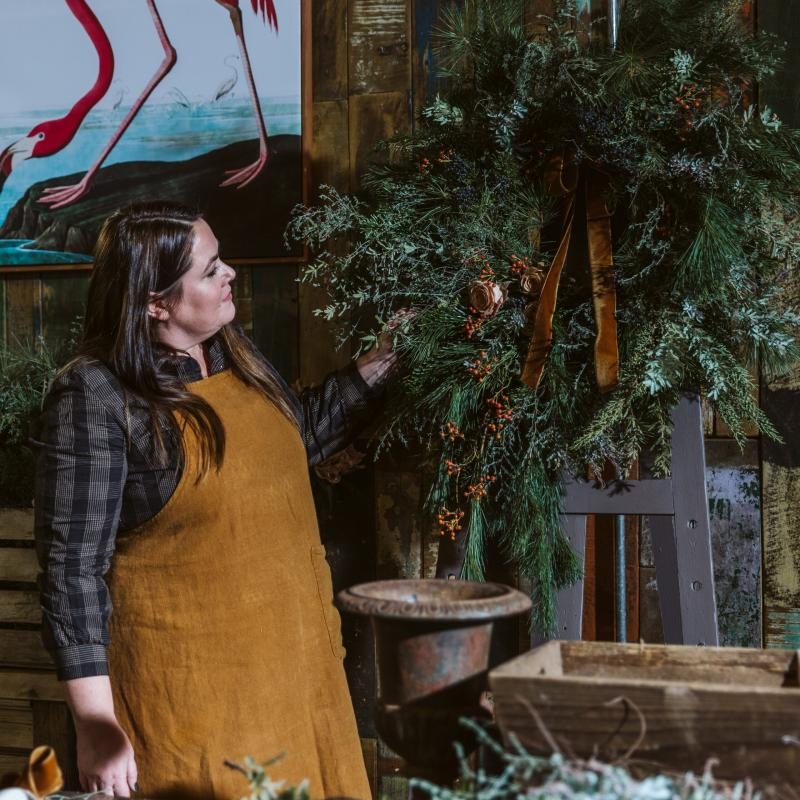 How to Make a Winter Wreath with Florist Kirsty Johnson