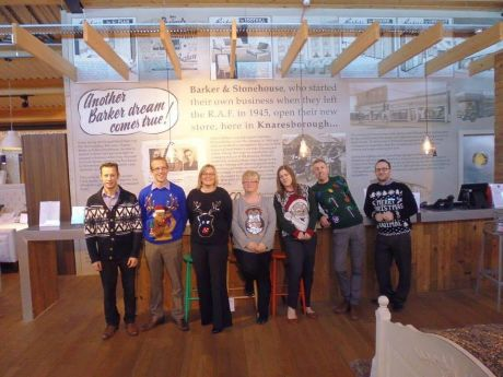 The Knaresborough team all looked super festive in the Christmas jumpers on Friday too.