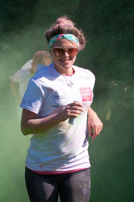 Candlelighters colour me crazy run at Hull collegiate school sponsored by Barker & Stonehouse