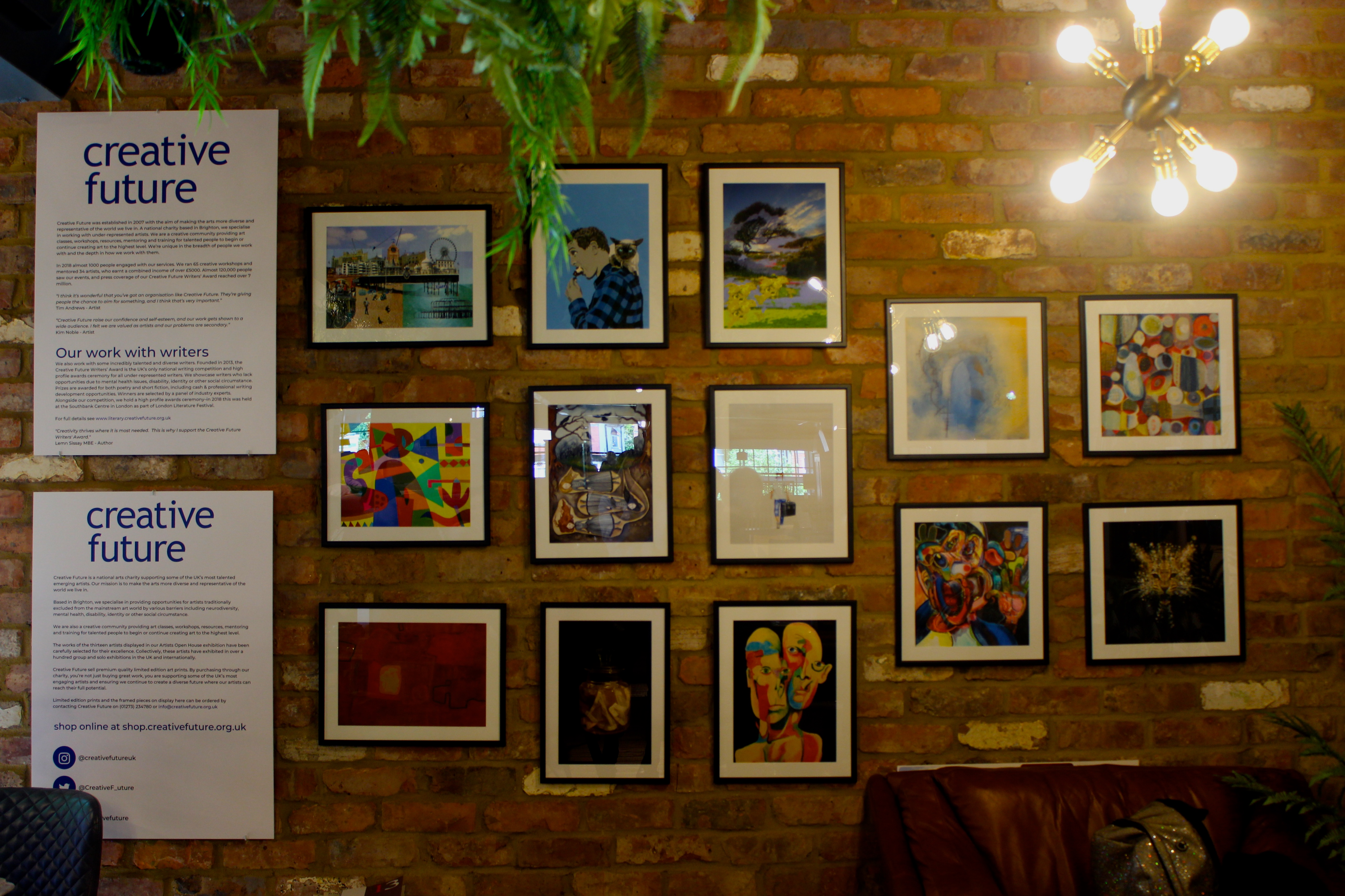 Artists Open Houses exhibition inside Barker and Stonehouse Hove